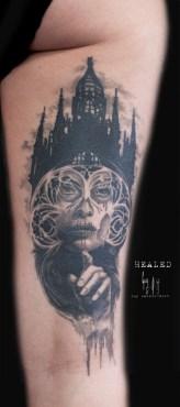 Tatouage Cicatrisé - Catrina autrement par Guy Labo-O-Kult