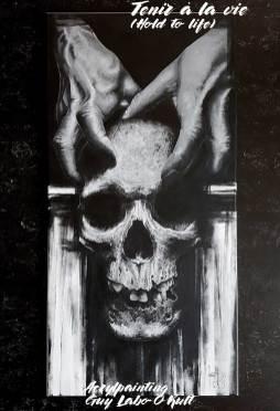 Tenir à la vie | Acrylic painting by Guy Labo-O-Kult