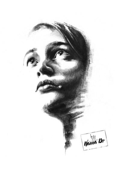 Wanna Do Charcoal Girl by Guy Labo-O-Kult