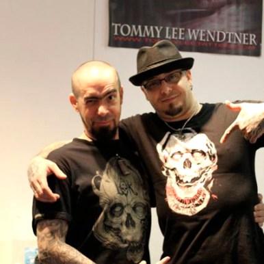 Tommy Lee Wendtner and Guy Labo-O-Kult with Labo-O-Kult Shirt