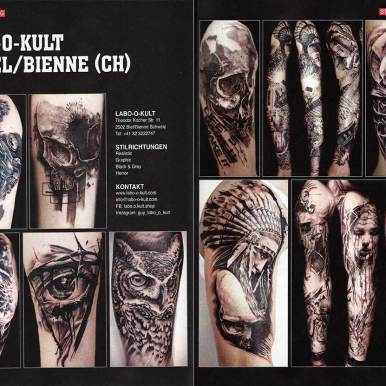 """Picture Report in German Magazin """"Tattoo Scout"""""""