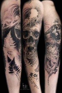 Au bord de gouffre - tattoo par Guy Labo-O-Kult