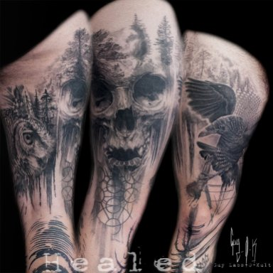 Healed Tattoo - perfect example of the graphic-realistic style by Guy Labo-O-Kult