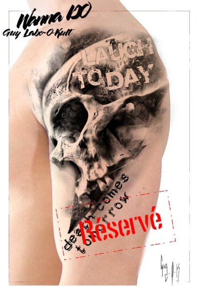 "RESERVED - Wanna Do ""Death Comes tomorrow"" by Guy Labo-O-Kult"