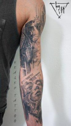 Healed Tattoos by Guy Labo-O-Kult   Tatouages cicatrisés fait par Guy Labo-O-Kult