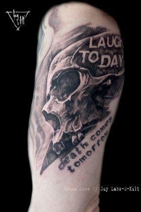 Motif Wanna Do - now tattooed by Guy Labo-O-Kult