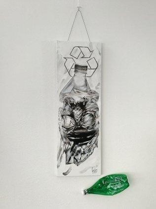 """Recyclable?"" von Guy Labo-O-Kult   Originalwerk – Acryl auf Leinwand"