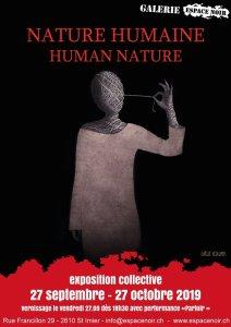 Flyer Expo Nature Humaine, Espace Noir, St Imier