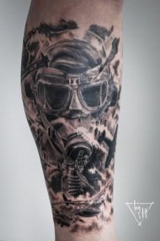 Aviator Tattoo by Guy Labo-O-Kult