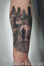 """Healed Tattoo """"Looks like Jack the Ripper"""""""