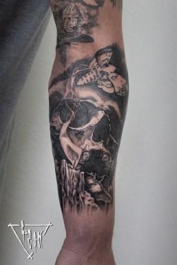 Tattoo zur Vergänglichkeit des Lebens | Guy Labo-O-Kult
