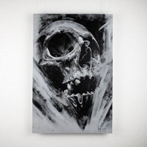 """Mors Suprema"" – original artwork by Guy Labo-O-Kult, acrylic painting on canvas board"
