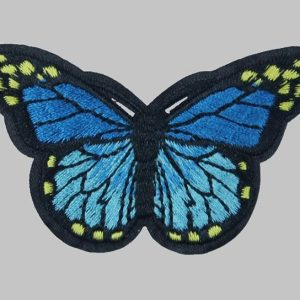 Écusson brodé thermocollant de papillon