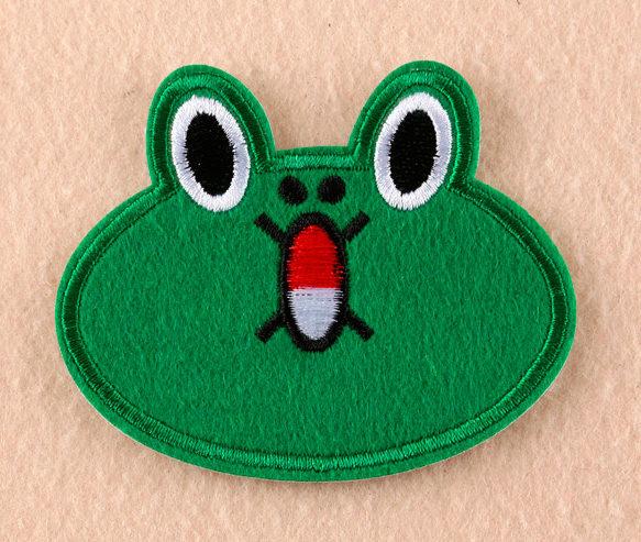 Écusson brodé thermocollant de grenouille