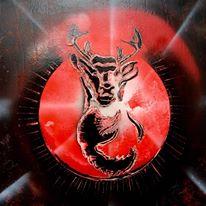 glowing-deer-20x20pouces-v-leonard