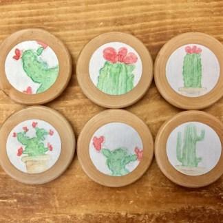 6-aimants-bois-vernis-3.5cm-cactus-la-boite-ateliers-creatifs