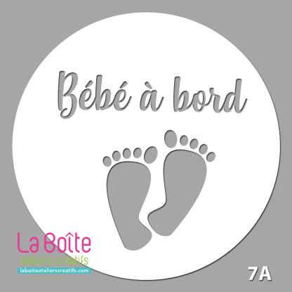 décalque bébé à bord petits pieds #7