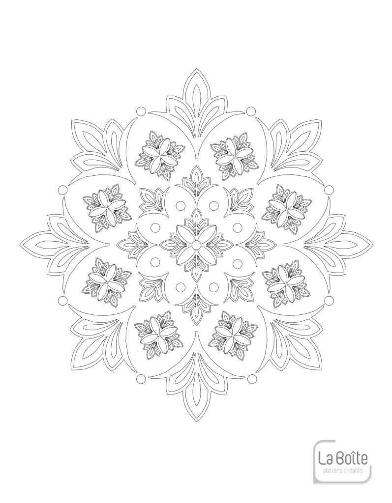 coloriage mandala 1