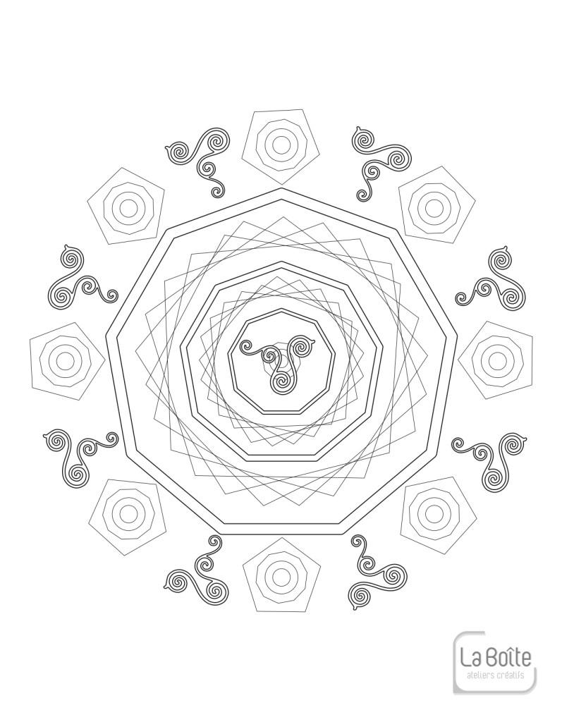 coloriage mandala 12