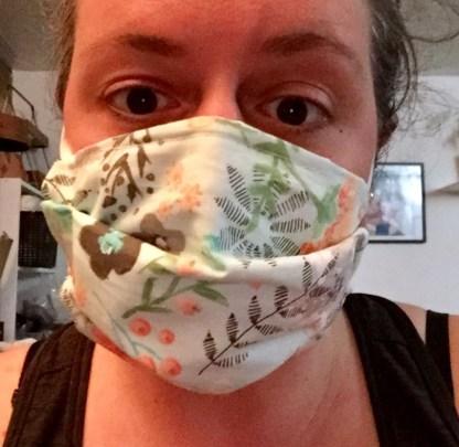 masque facial réutilisable en tissus