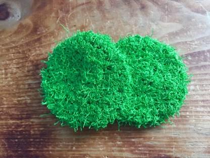 disque à récurer réutilisable en polyester vert lime