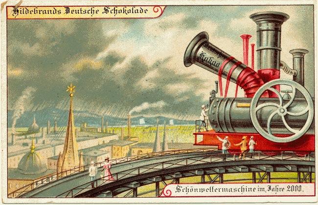 carte postale 2000 futur 06 En 1900, des cartes postales imaginent lan 2000