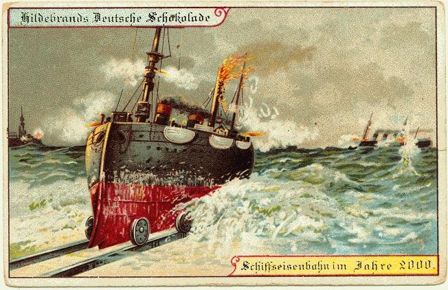 carte postale 2000 futur 07 En 1900, des cartes postales imaginent lan 2000