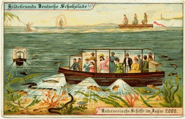 carte postale 2000 futur 08 En 1900, des cartes postales imaginent lan 2000