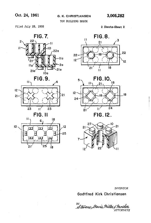 brevet patent jeu jouet toy lego 1 Les premiers brevets de jouets devenus célèbres  technologie histoire featured