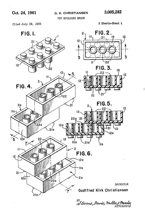 brevet patent jeu jouet toy lego 2 Les premiers brevets de jouets devenus célèbres  technologie histoire featured