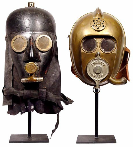 Firefighter Helmets MasksCropped French and German 1800