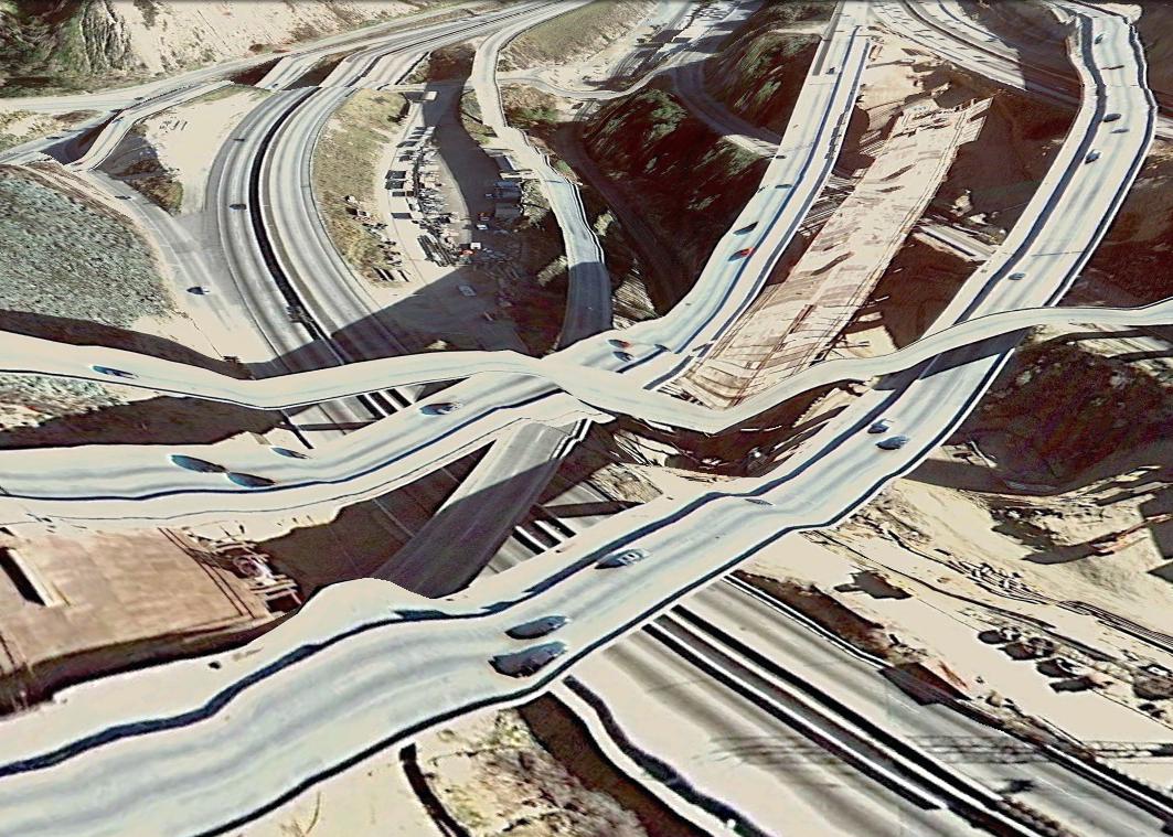 pont route google earth altitude relief 3d 01 Les ponts de Google Earth