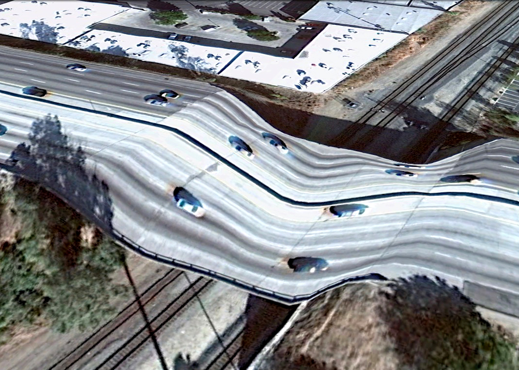 pont route google earth altitude relief 3d 04 Les ponts de Google Earth