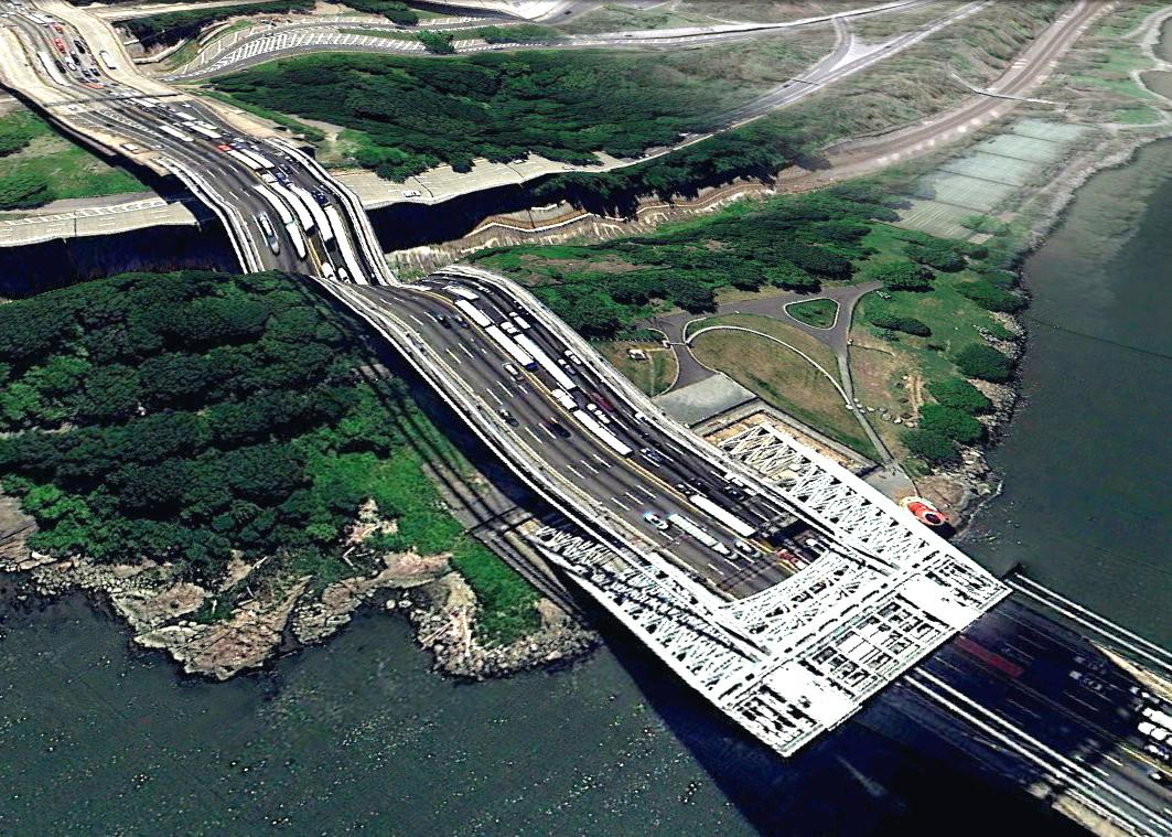 pont route google earth altitude relief 3d 08 Les ponts de Google Earth