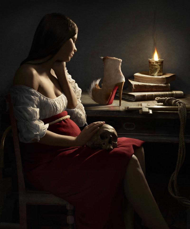 chaussure louboutin lippman portrait renaissance 05 Portraits style Renaissance par Peter Lippmann pour des chaussures