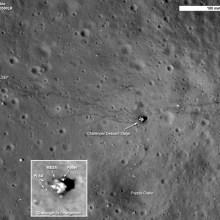 Les traces des missions Apollo sur la Lune