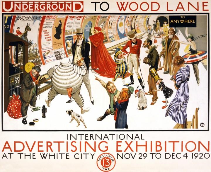 londres london metro undergroud affiche poster 01 720x587 150 ans daffiches du métro de Londres  histoire design bonus art