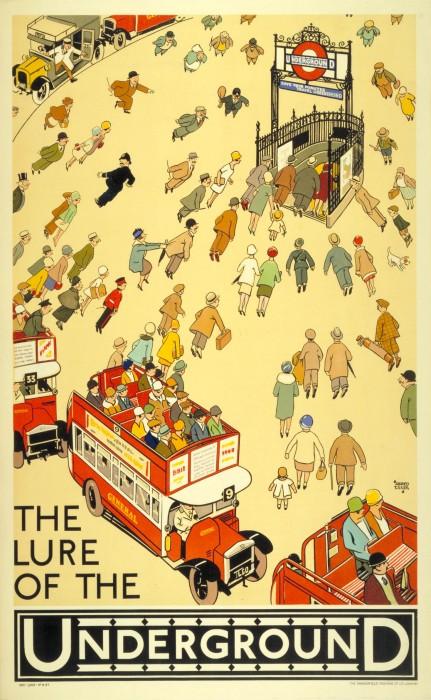 londres london metro undergroud affiche poster 02 431x700 150 ans daffiches du métro de Londres  histoire design bonus art