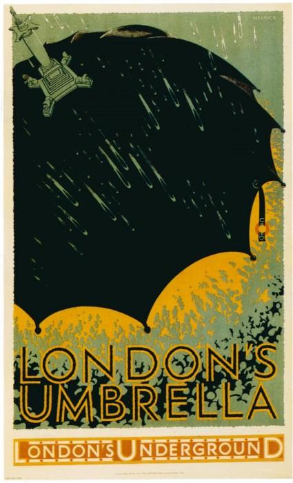 londres london metro undergroud affiche poster 04 425x700 150 ans daffiches du métro de Londres  histoire design bonus art