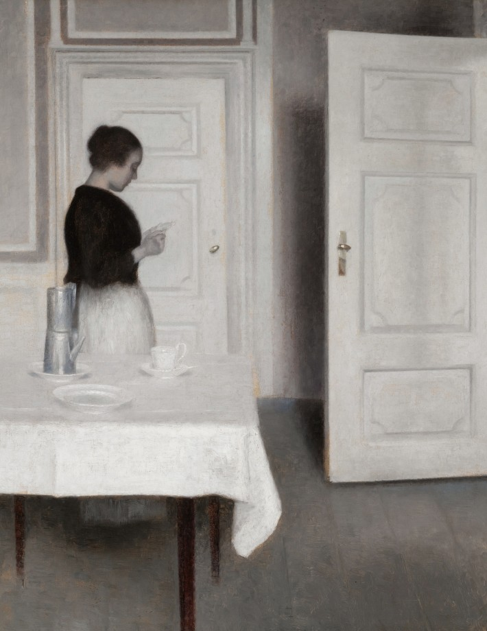 Ida reading a letter *oil on canvas *66 x 59 cm *1899