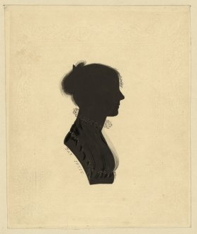 Silhouette-of-a-woman-wearing-an-Empire-dress-facing-right-1829