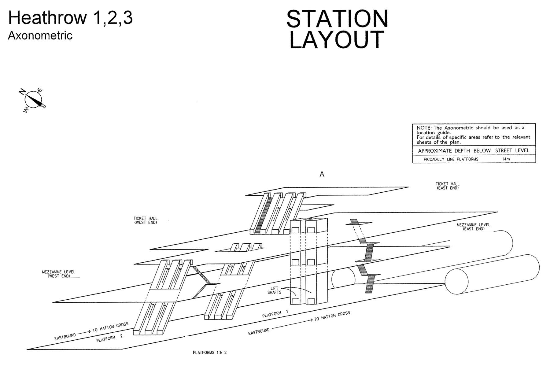 Diagramme 3d Station Metro Londres Heathrow 123 08