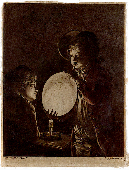 Un garçon qui gonfle une vessie - 1773
