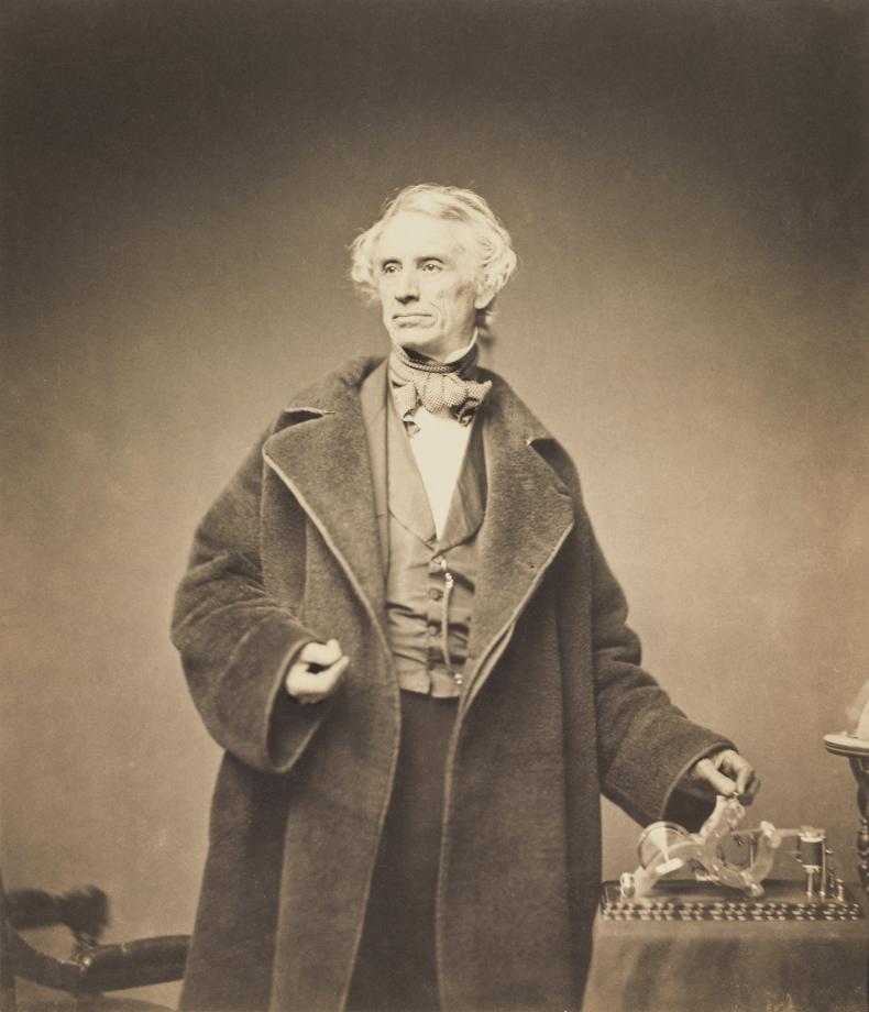Samuel Morse avec un télégraphe - 1857