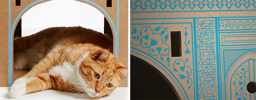 flatpack-cardboard-cat-houses-architectural-landmarks-designboom-04