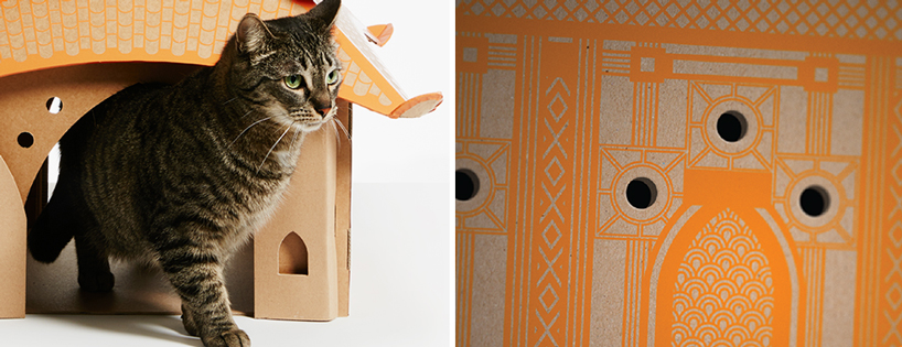 flatpack-cardboard-cat-houses-architectural-landmarks-designboom-08
