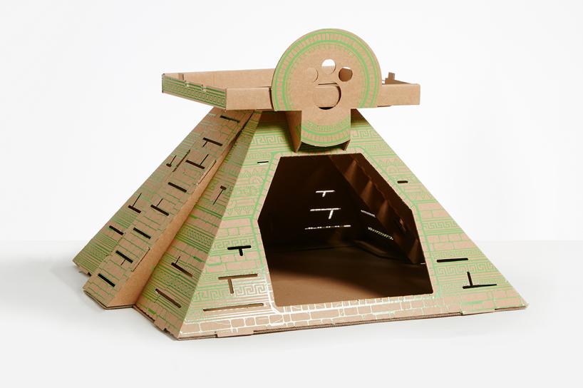 flatpack-cardboard-cat-houses-architectural-landmarks-designboom-11
