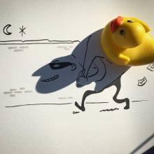 Les ingénieux dessins dans des ombres d'objets par Vincent Bal