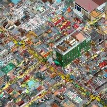 Des cartes de villes chinoises dans des perspectives renversantes