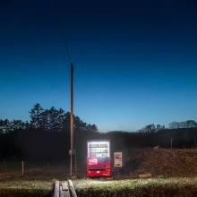 Les îlots lumineux des distributeurs au Japon